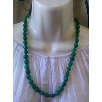 Collar De Esmeraldas Naturales Talladas A Mano