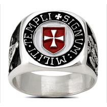 3606 Anillo Caballeros Templarios En Plata .925