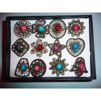 Anillos Ajustables De Moda Metal Con Piedras, Varios Modelos