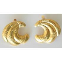 Aretes Laton Oro Dorados Vintage Ruso
