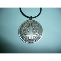 Moderno Dije Medalla Metalica De San Benito 5.9cm