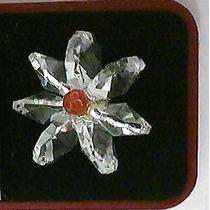 Anillo De Cristal Cortado Y Plata .925 Unitalla