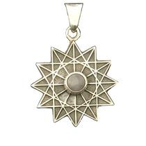Estrella 12 Picos Con Cuarzo Rosa/rutilado Y Egipcia 7 Picos
