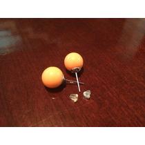 Aretes Esfera Naranja