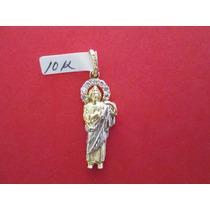 Dije San Judas Tadeo En Oro Solido De 10k.