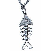 Dije Espina De Pescado En Plata Fina Ley.925 Sterling Silver