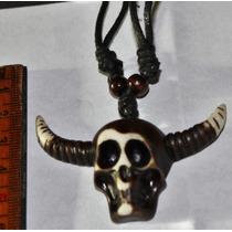 Collar Y Dije Calavera-esqueleto-calaca-gotico-flete Gratis