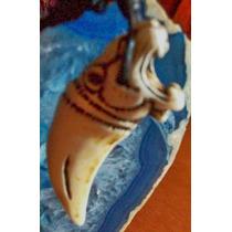 Collar Y Dije-forma De Colmillo-labrado-tigre-flete Gratis