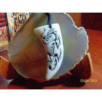 Collar Y Dije-forma De Colmillo-labrado-dragon-flete Gratis