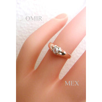 Anillo Diamante Solitario Oro 14k Corte Antiguo 0.30q