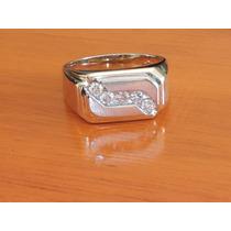 Anillo De Caballero Oro 14k Diamantes Naturales 0.50 Cts