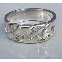 Estuche Anillo Plata Modelo Fashion Ring Zirconias Primera.
