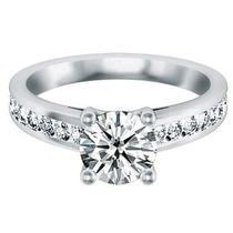 Anillo De Compromiso Oro Blanco 10k, Diamante Corte A Elegir