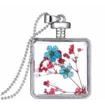 Cadena Y Botella Con Flores Deshidratadas