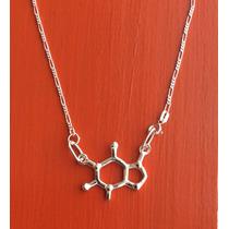 Dije Sciencia Molécula Hormona Cafeína Plata Ley Solida 925