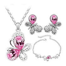 Collar,aretes Y Pulsera Mariposa Cristal Swarovski Elements