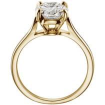 Anillo Con Diamante Cultivado De 1.25 Ct. En Oro De 18k.