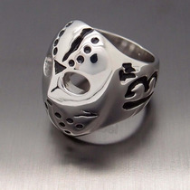 Anillo Mascara De Jason Acero Inoxidable, Biker, Rock, 13th
