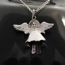 Dije De Angel Bell Chico En Plata Ley 0.925