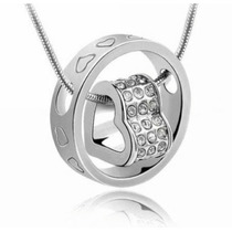 Collar Corazon De Cristal Swarovski Elements Amor Dije