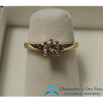 Anillo De Compromiso Brillante Natural .51 Ct Oro 14k