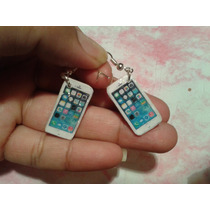 Iphone Miniatura Aretes, Accesorios Geek Kawaii Gamer Moda