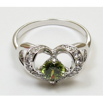 Anillo Oro Gold Filled 10k Con Peridot De 5mm #7.5