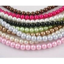 Bolsa 12 Hilos 1.5m Perlas Sintéticas Plásticas 6mm 3000pz