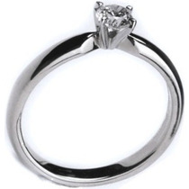 Anillo De Compromiso Diamante 100% Natural 0.13cts. Vvs-1