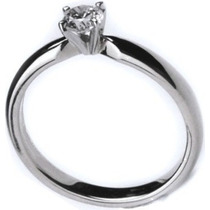 Bonito Anillo De Compromiso Diamante 100% Natural 0.13cts.