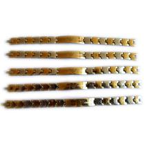 Pulsera Magnetica Emporio Armani Titanio Baño De Oro 24k