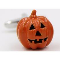 Mancuernillas Gemelos Calabaza Dia De Muertos Halloween