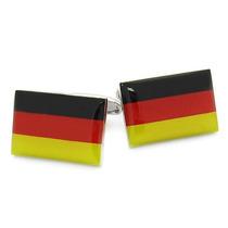 Mancuernillas Bandera Alemania Acero Inoxidable Camisa