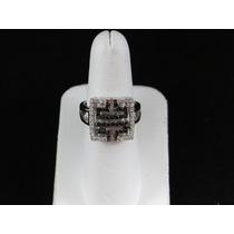 Anillo De Plata .925 Onix Con Cristales 7de9a