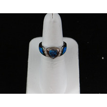 Anillo De Plata .925 Opalo C/cristales E1d1a