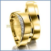Argollas De Matrimonio Mod. Zeus En Oro Amarillo 14k Solido