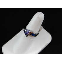Anillo De Plata .925 Opalo C/cristales Ddc5a.9426a