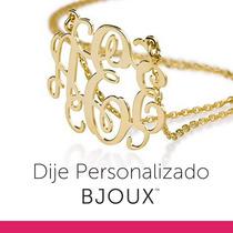 Dije Monograma Baño Oro 24k Personalizado / Incluye Cadena*