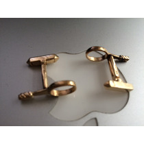 Mancuernillas De Oro Maciso De 14 Kilates Forma De Raquetas