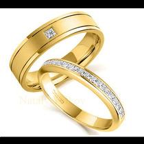 Argollas De Matrimonio Mod. Couture En Oro 14k Matrimoniales