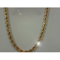 Torzal Grueso De Oro Laminado 18k Excelente Calidad 60cm