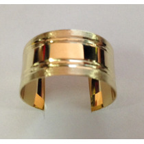 Anillo Ajustable Chapa De Oro 14 Kilates Unisex