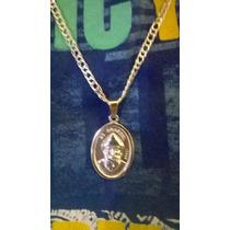 Hermosa Medalla Sn Charbel Con Cadena En Plata Ley .925