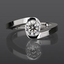 Anillo Compromiso 14k Diamante Natural .22 Puntos H Si1