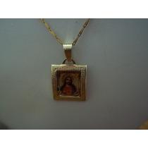 Dije Medalla Sagrado Corazón Oro 10k