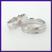 Argollas Matrimoniales Mod. Sokolova Oro Blanco 10k Solido