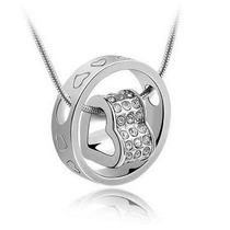 Precioso Collar Corazon De Cristal Swarovski Elements Amor!!