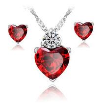 Regalo San Valentin Conjunto Corazón Swarovski Element