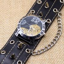 Reloj Jaguar Spikes Y Balas Chopper, Biker, Punk, Gotico,