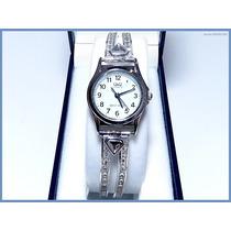 Reloj Swarovski Para Dama Hecho En Plata Solida Acc